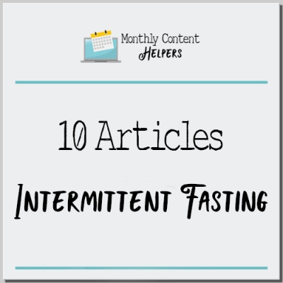 Intermittent Fasting PLR Articles