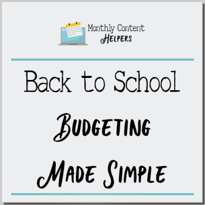 Back to School Budgeting Made Simple PLR Bundle