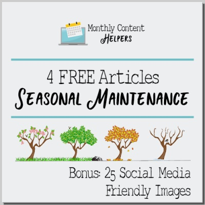 FREE Seasonal Maintenance PLR Articles