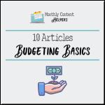 Budgeting Basics PLR Articles