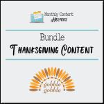 Thanksgiving PLR Content Bundle
